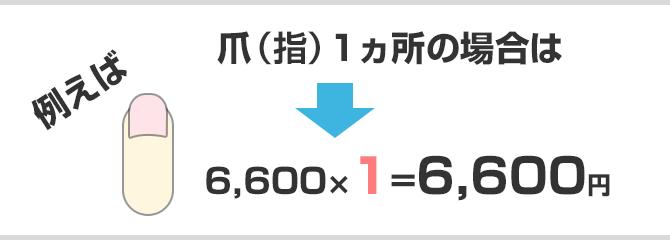 爪1ヵ所6600円